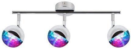 LAMPA ŚCIENNA  CANDELLUX PARTY 93-67777 LISTWA  LED RGB GŁÓWKA OKRĄGŁA  Z PRZEGUBEM   CHROM