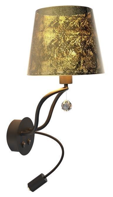 LAMPA ŚCIENNA KINKIET CANDELLUX APETI SARIA LED+8W LED CZARNO ZŁOTY
