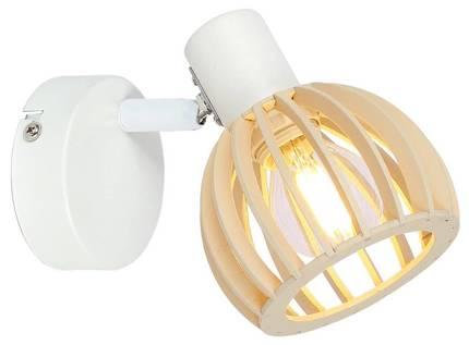 LAMPA ŚCIENNA KINKIET CANDELLUX ATARRI 91-68019  E14 BIAŁY+DREWNO