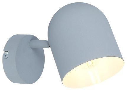 LAMPA ŚCIENNA KINKIET CANDELLUX AZURO 91-63205  E27 SZARY MAT