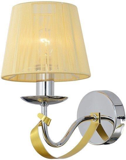 LAMPA ŚCIENNA KINKIET CANDELLUX DIVA 21-55040  E14 CHROM / ZŁOTY