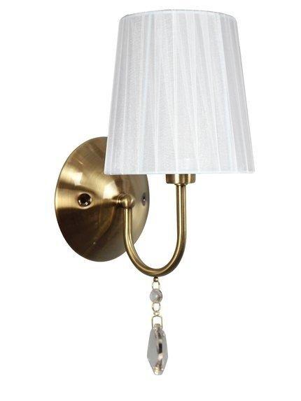 LAMPA ŚCIENNA KINKIET CANDELLUX SORENTO 21-38081  E14 PATYNA ABAŻUR BIAŁY