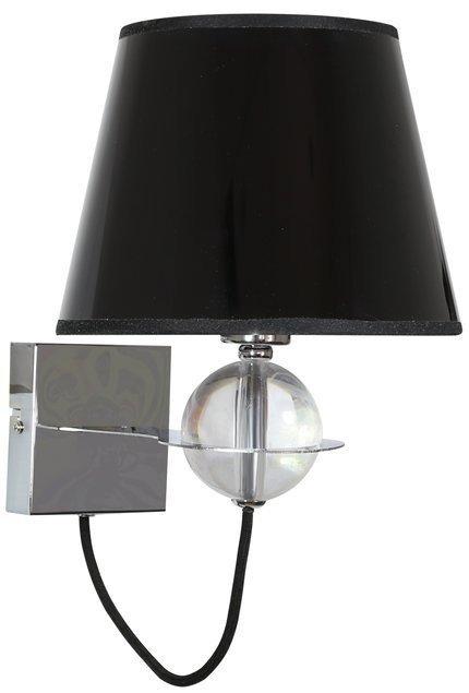 LAMPA ŚCIENNA KINKIET CANDELLUX TESORO 21-29508  E14 CZARNY ZŁOTY SRODEK