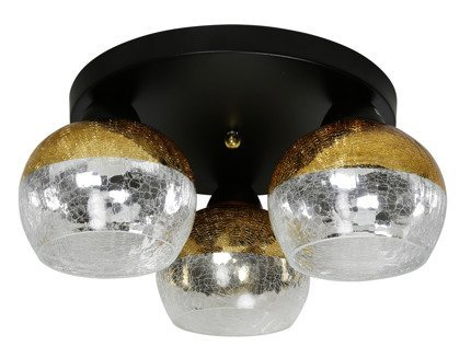 LAMPA SUFITOWA  CANDELLUX CROMINA 98-57280 PLAFON OKRĄGŁY  E27 CZARNY