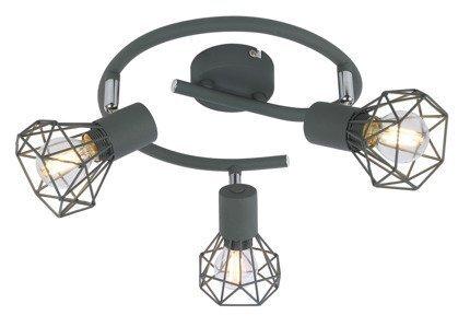 LAMPA SUFITOWA  CANDELLUX VERVE 98-60990 SPIRALA  E14 MATOWY SZARY