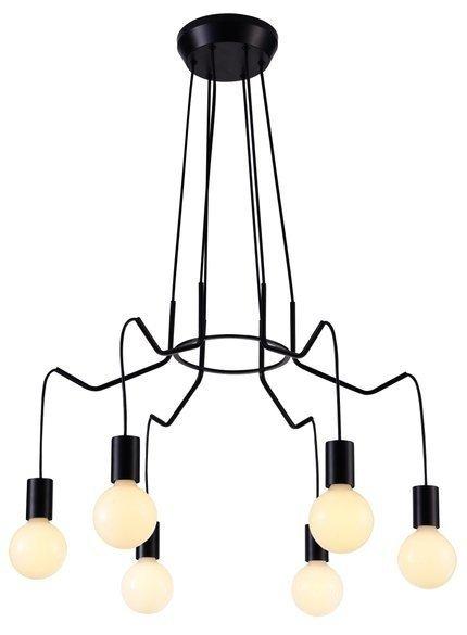 LAMPA SUFITOWA WISZĄCA CANDELLUX BASSO 36-71033  E27 CZARNY MATOWY