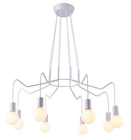 LAMPA SUFITOWA WISZĄCA CANDELLUX BASSO 38-71040  E27 BIAŁY MATOWY
