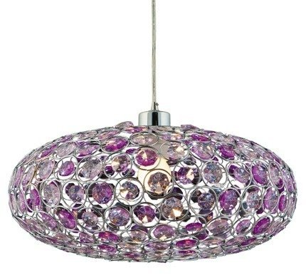 LAMPA SUFITOWA WISZĄCA CANDELLUX CRISTY 31-92635   E27 FIOLET