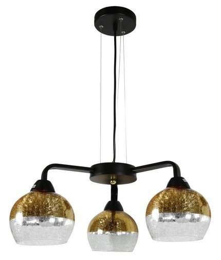 LAMPA SUFITOWA WISZĄCA CANDELLUX CROMINA GOLD 33-57259  E27 CZARNY