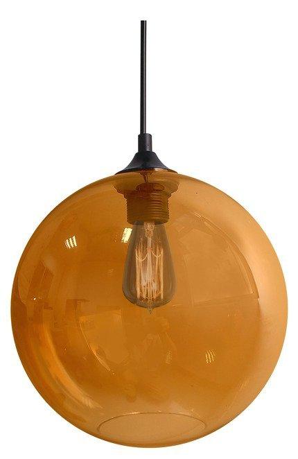 LAMPA SUFITOWA WISZĄCA CANDELLUX EDISON 31-21397   E27 BURSZTYNOWY + ŻARÓWKA