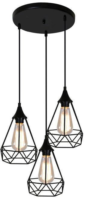 LAMPA SUFITOWA WISZĄCA CANDELLUX GRAF 33-62918 TALERZ E27 CZARNY
