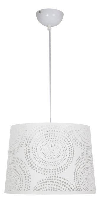 LAMPA SUFITOWA WISZĄCA CANDELLUX ORLANDO 31-49100  KROPKI  E27 BIAŁY