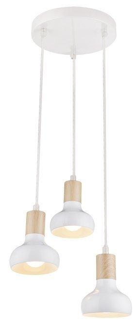 LAMPA SUFITOWA WISZĄCA CANDELLUX PUERTO 33-62635  E14 NA TALERZU BIAŁY