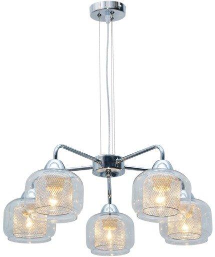 LAMPA SUFITOWA WISZĄCA CANDELLUX RAY 35-67098  E14 CHROM