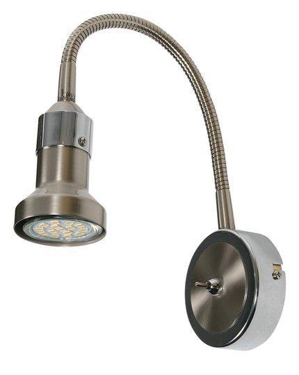 Lampa Ścienna Kinkiet Candellux Arkon 91-60037 Na Wysięgniku Sat Nikiel + Chrom