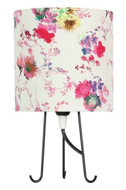 Lampa Stołowa Gabinetowa Candellux Micra 41-34731 E14 Kwiaty Różowe
