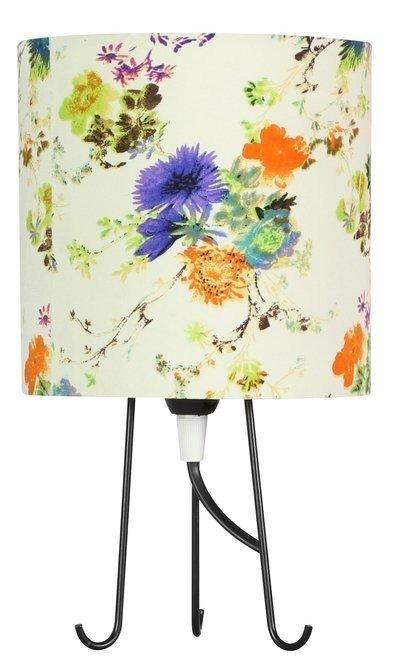 Lampa Stołowa Gabinetowa Candellux Micra 41-34755 E14 Kwiaty Niebieskie