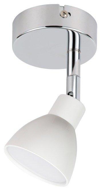 Lampa kinkiet główka okrągła 1E z przegubem KD system 1X5W biały  ROY 91-67524