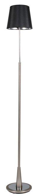 Lampa podłogowa satynowa czarny abażur z tkaniny Milonga Candellux 51-53619