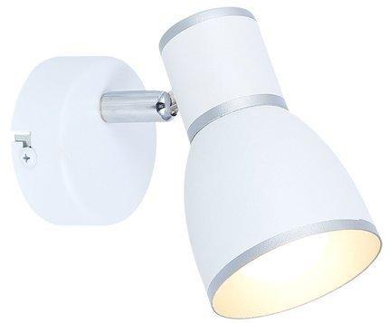 Lampa ścienna kinkiet 1X40W E14 biały+chrom FIDO 91-63366