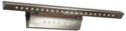 Lampa ścienna kinkiet 7W LED rurka trójkątna z wyłącznikiem satyna FORTE 20-27023