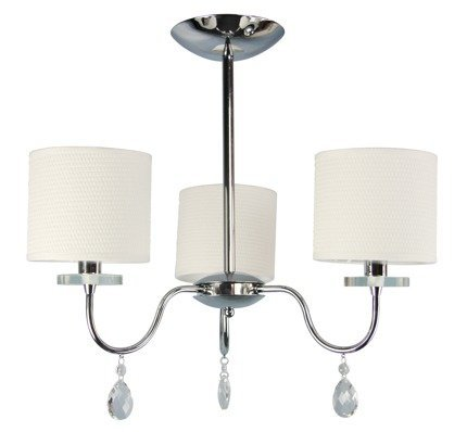 Lampa sufitowa chromowa 3x40W żyrandol + kryształy Estera Candellux 33-11664