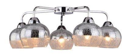 Lampa sufitowa lustrzana bite szkło chrom 5x60W Cromina Candellux 98-55668