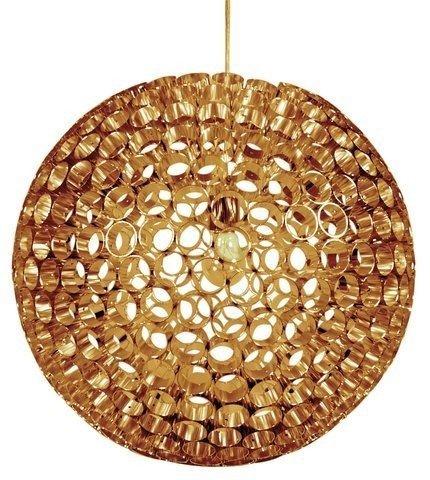 Lampa sufitowa miedziana kula z metalowych rurek Abros Candellux 31-09074
