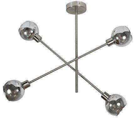 Lampa sufitowa wisząca sztyca E14 LED satyna MIGO 34-72436