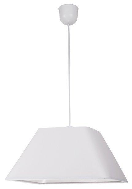 Lampa wisząca biała abażur z tkaniny 60W E27 Robin Candellux 31-57518