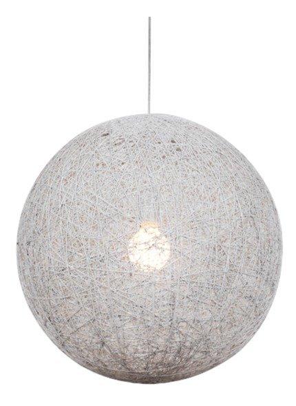 Lampa wisząca biała kula ze sznura na lince 60W Caruba Candellux 31-26913