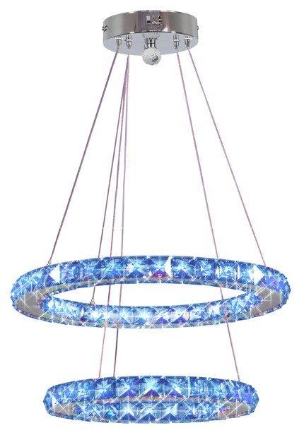 Lampa wisząca chromowa owalna LED 27W RGB + pilot Lords Candellux 32-63106