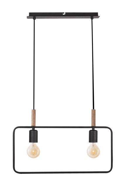 Lampa wisząca czarna regulowana wysokość 2x60W E27 Frame Candellux 32-73518