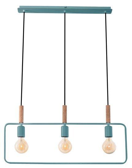 Lampa wisząca miętowa regulowana wysokość 3x60W E27 Frame Candellux 33-73754