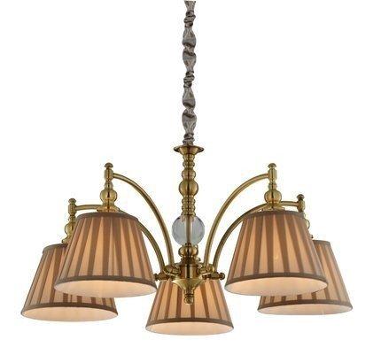 Lampa wisząca patynowa regulowan łańcuch 5x40W E14 Austin Candellux 35-13859
