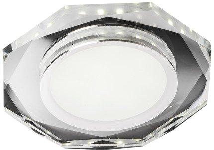 Oprawa Stropowa Oczko Candellux Ssp-24 Ch/Tr+Wh 8W Led 230V Ring Led Biały