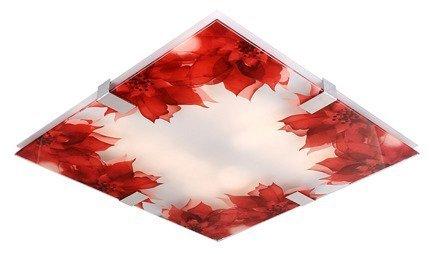 Plafon czerwone kwiaty lampa LED Rapsody 10-30719