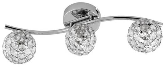 LAMPA ŚCIENNA  CANDELLUX STARLET 93-85934 LISTWA  G9 CHROM/TRANSPARENT