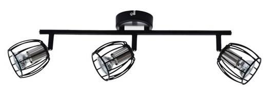 LAMPA ŚCIENNA  CANDELLUX ZONK 93-54333 LISTWA  LED GU10 CZARNY MATOWY+SATYNA NIKIEL