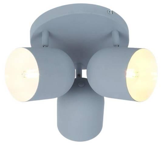 LAMPA SUFITOWA  CANDELLUX AZURO 98-63236 PLAFON  E27 SZARY MAT