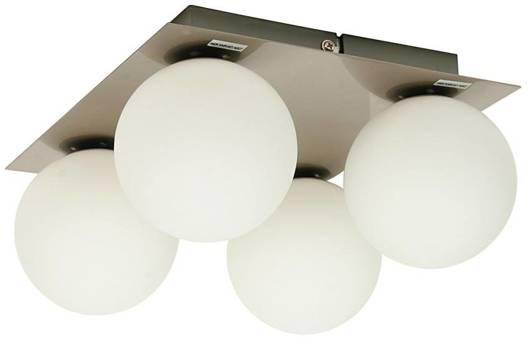 LAMPA SUFITOWA  CANDELLUX ETIUDA 98-82094 PLAFON POCZWÓRNY NIKIEL MAT 4XG9/40W 230V