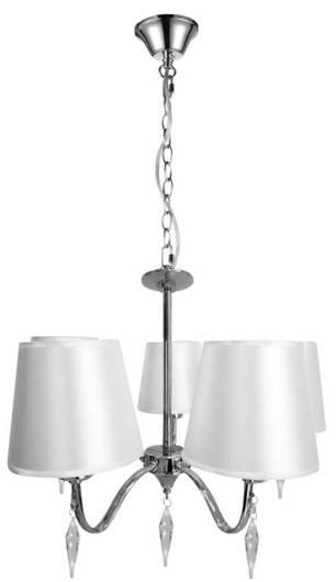 LAMPA SUFITOWA WISZĄCA CANDELLUX ANSA 35-40510  E27 CHROM