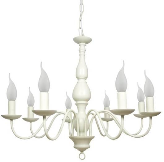 LAMPA SUFITOWA WISZĄCA CANDELLUX BELLAGIO 38-96510  E14 KREMOWY