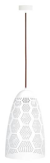LAMPA SUFITOWA WISZĄCA CANDELLUX BENE 31-70593  STOŻEK  E27 AŻUROWY BIAŁY