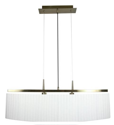 LAMPA SUFITOWA WISZĄCA CANDELLUX BERG 32-45171  E14 PATYNA ABAŻUR BIAŁY