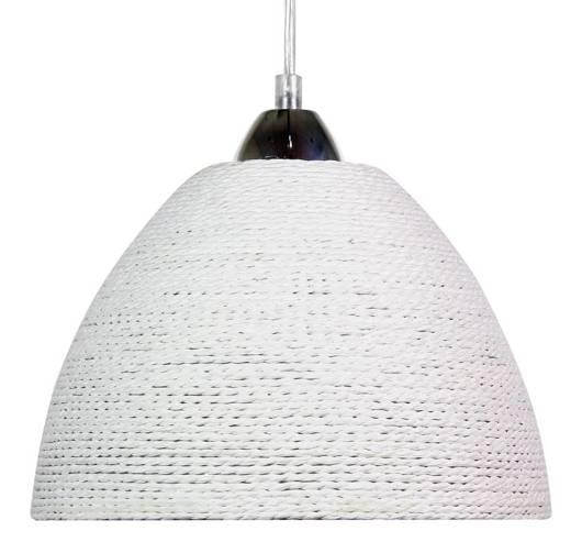 LAMPA SUFITOWA WISZĄCA CANDELLUX BRAID 31-32751   E27 BIAŁY