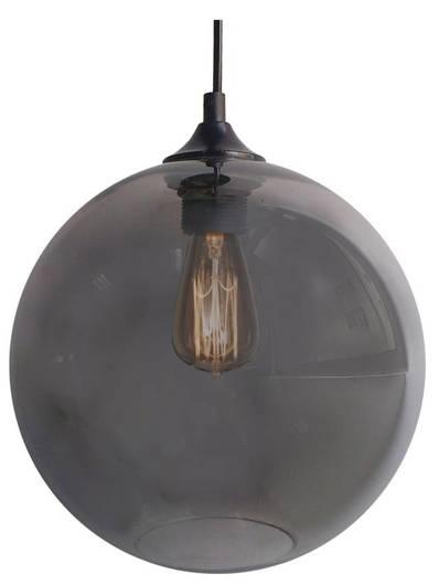LAMPA SUFITOWA WISZĄCA CANDELLUX EDISON 31-26651   E27 SREBRNY + ŻARÓWKA