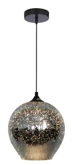 LAMPA SUFITOWA WISZĄCA CANDELLUX GALACTIC 31-51295  E27 3D