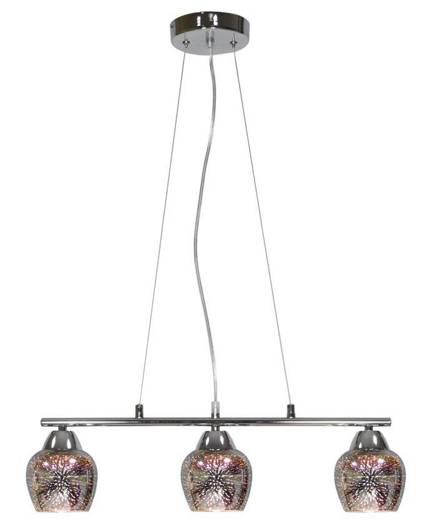 LAMPA SUFITOWA WISZĄCA CANDELLUX SIRIUS 33-59611  E27 CHROM 3D