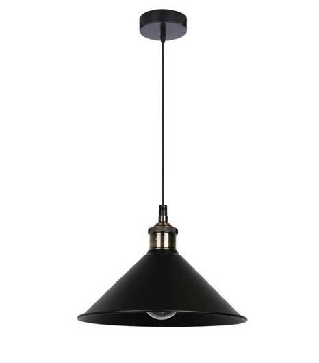 LAMPA SUFITOWA WISZĄCA CANDELLUX VELO 31-56313   E27 CZARNY